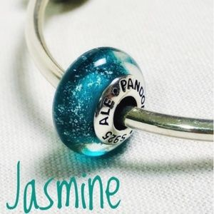 Pandora Disney Jasmine Murano Bead, New!